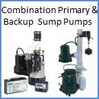 TWO Pumps Combination Primary and Backup