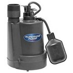 Superior 92250 1/4-Horsepower Thermoplastic Sump Pump with Tethered Float Switch