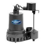Superior 92372 Thermoplastic Sump Pump with Vertical Float Switch, 1/3 HP