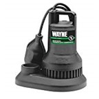 Wayne WST40 4/10-HP-Submersible Thermoplastic-Sump-Pump With Tether-Float-Switch