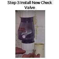 Step 3. Install the new check valve. Make sure to measure carefully