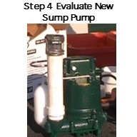 Step 4. Evaluate tne New Zoeller Sump Pump. Is it the same height and width? Where is the float swtich with guard?