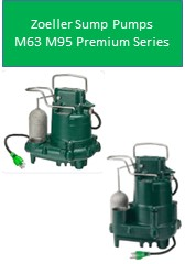 Zoeller Sump Pump M63 M95 Premium Series 5 Year Warranty