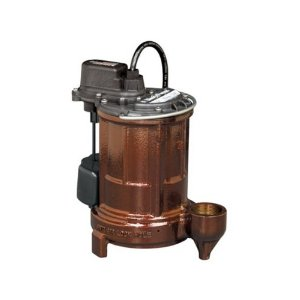 Pictured is the Liberty sump pump with vertical magnetic float switch