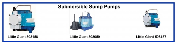 Little Giant Series 6-CIA 508158 508059 50815 Submersible Sump Pump