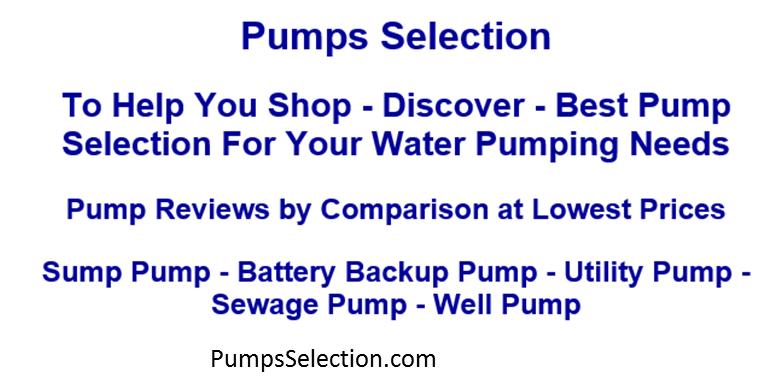 d32a0342aa9 Pump Reviews by Comparison for Best Sump Pumps Selection