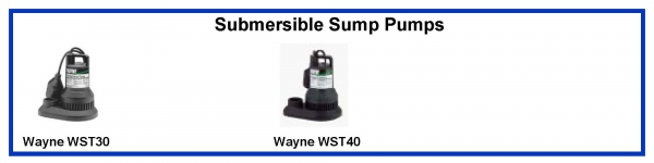 Wayne WST30 WST40 Submersible Sump Pumps