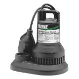 WAYNE WST30-57639 1/3 HP Thermoplastic Sump Pump with Tether-Float-Switch
